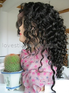 150% heavy density Chinese virgin hair deep wave full lace wig wholesale