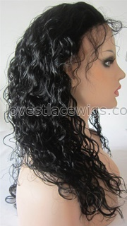 Cheap human hair deep curly lace front wigs for black woman with baby hair