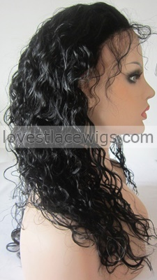 cheap human hair deep curly lace front wigs for black woman with baby