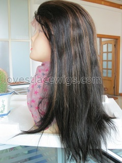 1B 30 Highlighted full lace wigs for black woman remy hair straight Celebrity hair style lace wigs in stock