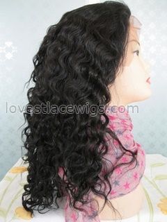 18 inch water wave full lace wig in stock
