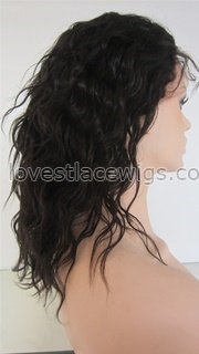 New style loose wave indian remy lace front wig for woman