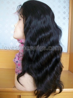 Wholesale off black 14 inch 100% indian hair natural straight lace front wig in stock