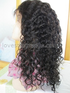 Spanish curl indian remy hair lace wig