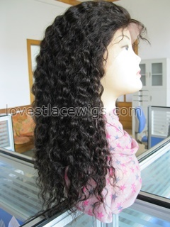New arrival super wave indian remy hair lace front wigs