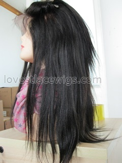 Best selling yaki straight indian remy hair lace front wigs in stock wholesale
