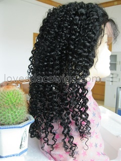 Hot sale Jerry curl indian remy hair medium lace front wig for black woman