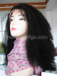 Afros kinky curl 100% Indian remy hair lace front wigs in stock