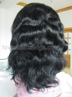 Special sale 100% indian hair Body wave lace front wig wholesale
