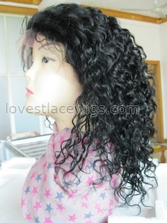 Best selling curly indian remy hair lace front wig with baby hair