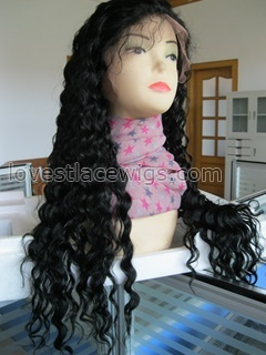 Wholeslae 120% density indian remy deep wave lace front wig