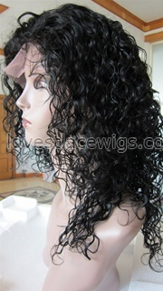 Best selling curly indian remy hair lace front wigs in stock wholesale