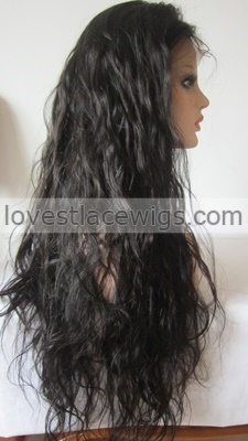 chinese human hair wigs loose wave full lace for black women unprocessed virgin with baby