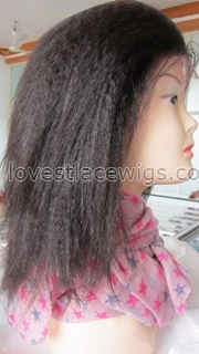 Kinky straight lace front wig Indian remy hair in stock