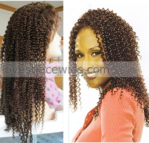 fashion jerry curl indian remy hair lace front wig for africa woman