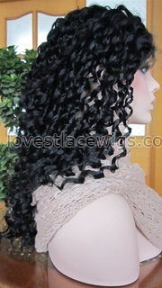 Water wave Indian remy hair lace front wig in stock