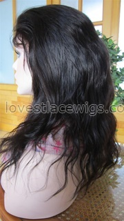 Best selling indian hair natural straight  lace front wig for lady