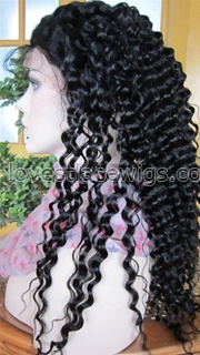 Guaranteed quality Deep wave 100% indian remy human hair lace front wigs