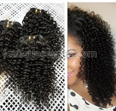 8-28inch kinky curl weaving Malaysian Brazilian Mongolian kinky curly virgin human hair extensions natural black
