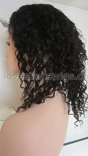 Curly indian remy lace front wigs for woman wholesale
