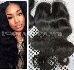 6A Cheap Lace Closure 4x4 Brazilian Virgin Body Wave Human Hair Top Lace Closures Pieces With Bleached Knots Free Middle Part Stock