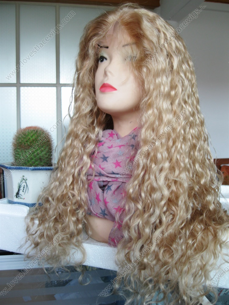 Long Honey Blonde Curly Lace Front Wig Us 251 00