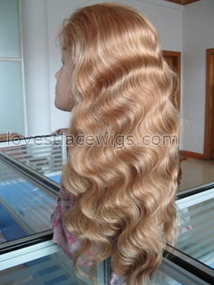 Body wave full lace blonde brazilian virgin hair wigs wholesale