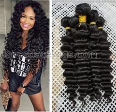 Remy Hair Extensions Brazilian Hair Bundle Deals Deep Wave Human Hair Weaves 3pcs lot Brazillian Virgin Hair Wholesale Natural