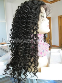 Malaysian virgin hair silk based hidden knots spring curl full lace wigs