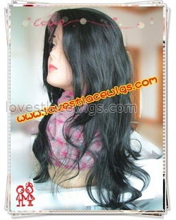 Yaki wave synthetic lace front wigs