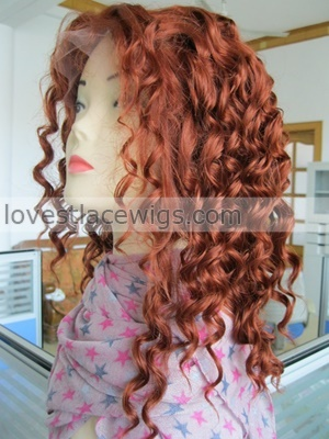 red sexy curl synthetic lace front wigs