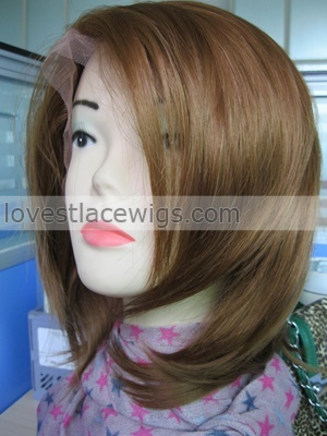 new design short synthetic lace front wig