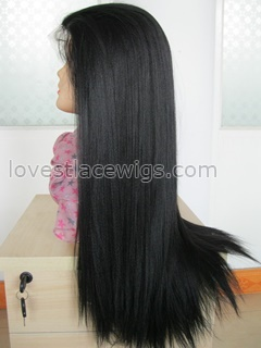 Fashion yaki straight synthetic lace front wig