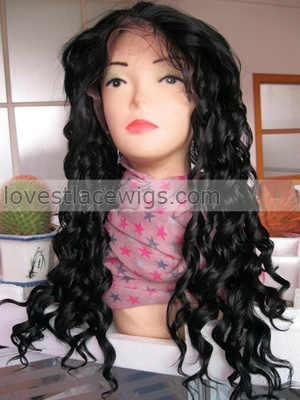 deep wave synthetic lace front wig for sale