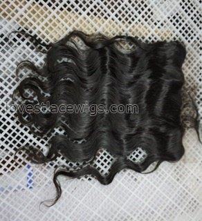Brazilian virgin Lace frontal closures body wave 10x4 free parting Full Lace Frontal 100%Unprocessed Virgin Human Hair Natural Black