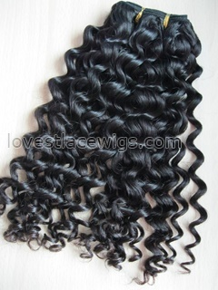 Hot sale chinese virgin hair natural color long hair extension water wave