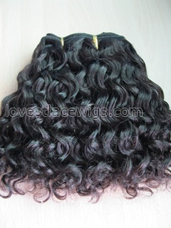 Loose curl 100% indian remy hair natural color hair extension wholesale
