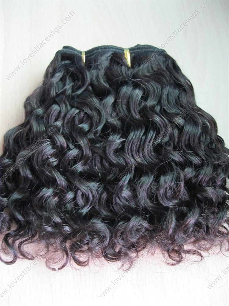 Loose Curl 100 Indian Remy Hair Natural Color Hair Extension