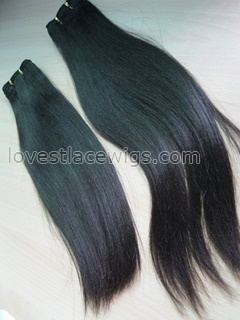 Course yaki Chinese virgin hair natural color long hair extension in stock