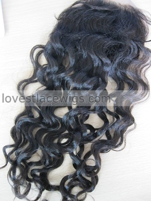 coarse yaki curl 100% malaysian virgin hair lace top closure