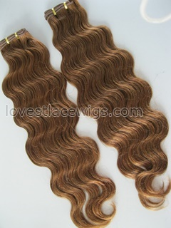 Custom fashion indian hair #30 color body wave hair weft wholesale
